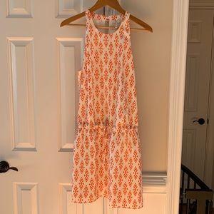 Joie Diega Silk Self-Tie Mini Dress L Orange NM